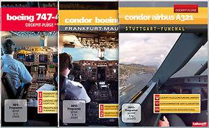 DVD-DREIERPACK-Condor-Airbus-A321-Boeing-767-Boeing-747-Cockpit-Fluege
