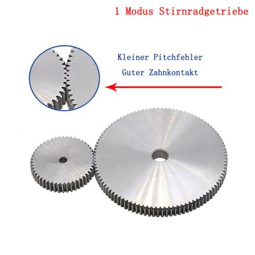Zahnrad Stirnrad Stahl C45 Motorgetriebe Stirnradgetriebe 1 Modul 64-76 Zähne 1M