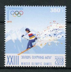 Armenie-2018-neuf-sans-charniere-Jeux-olympiques-d-039-hiver-de-Pyeongchang-2018-1-V-Set-Ski-Sports