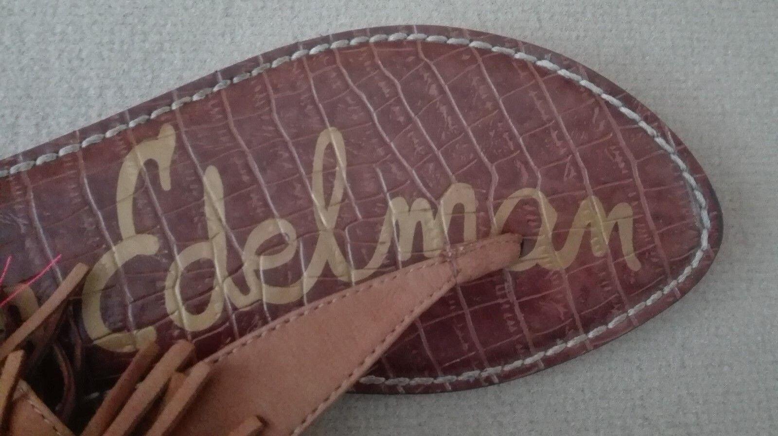 Damen Sandale SAM EDELMANN, Gr. 38,5, bunt, flach, Sommer, Leder, fröhlich