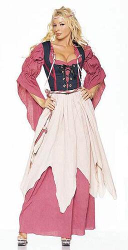 Leg Avenue 8970 Size S Small Adult Women/'s 5 Piece Renaissance Wench Costume