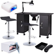 Manicure Nail Table Station Rack Chairs Towel Warmer Nail Dryer Salon Equipment