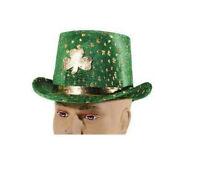 Forum Novelties Green St. Patrick's Day Velvet Shamrock Top Hat