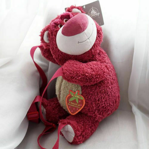 Disney Toy Story Lotso Bear Strawberry Bear Backpack Bag Plush Toy 40CM