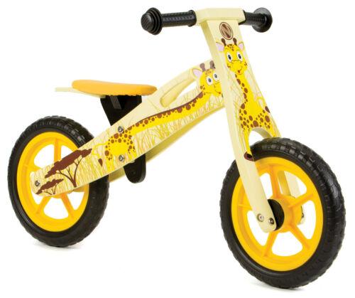 Nicko NIC853 Giraffe Children/'s Kid/'s Yellow Wooden Balance Bike 2-5 Years