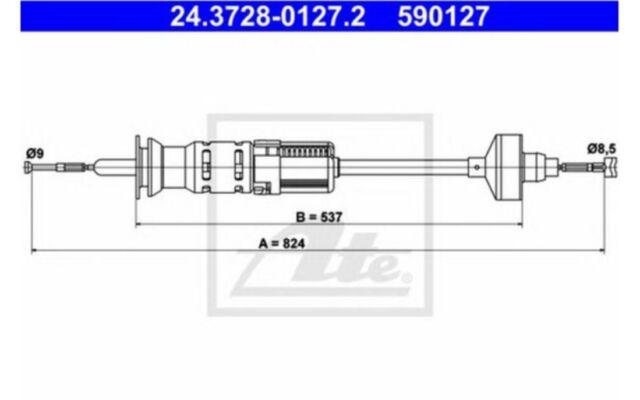 ATE Cable de accionamiento, accionamiento del embrague VOLKSWAGEN 24.3728-0127.2