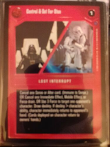 Star Wars CCG Reflections II Control /& Set For Stun NrMint-MINT SWCCG