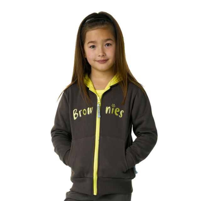 BROWNIE GUIDE HOODED JACKET HOODIE OFFICIAL UNIFORM ALL SIZES OFFICIAL SUPPLIER