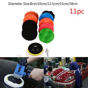 11Pcs 3/4/5/6/7'' Buffing Polishing Waxing Sponge Pad Kit Set For Car Polisher Automotive Tools & Supplies