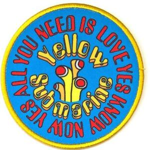 Offiziell-Lizenziert-The-Beatles-Gelbes-U-Boot-All-You-Need-Is-Aufnaeher