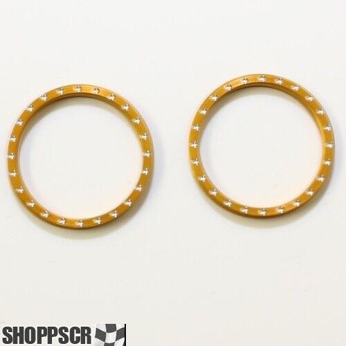 Pro Track CNC Beadlock W// Rivet Gold Anodized