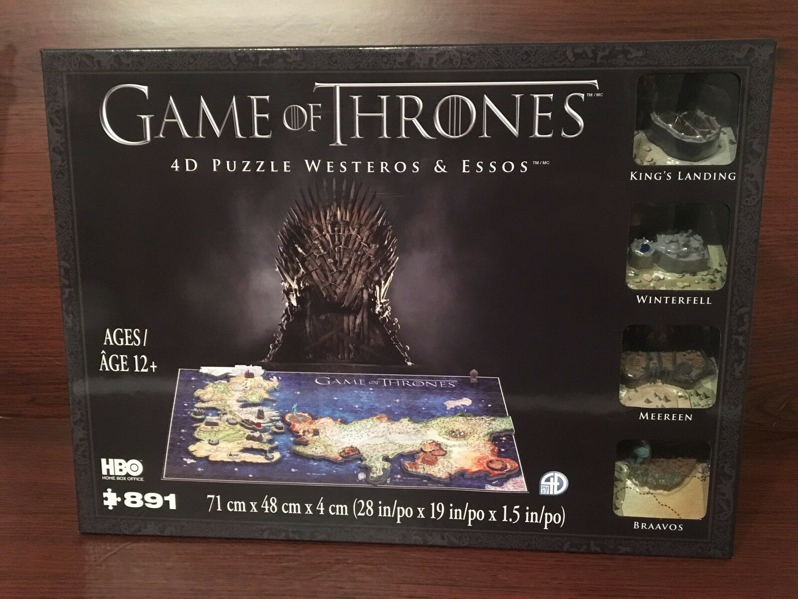 Brand New And SEALED Game of Thrones Westeros & Essos 4D Puzzle, 891+ Piece Set