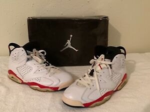 competitive price 5b94e 3479b Details about Air Jordan 6 Retro Bulls 384664 102 White/Varsity Red-Black  Size 12