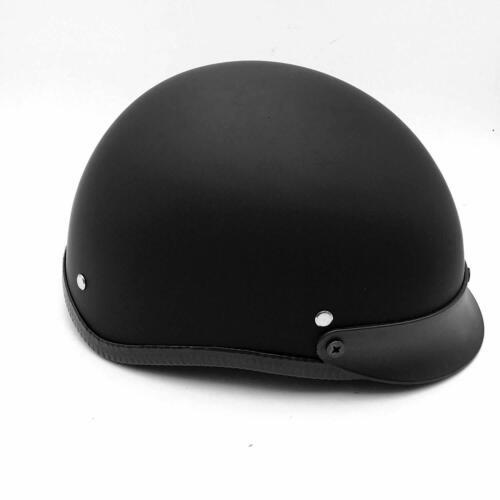 DOT Certified Black Half Face Helmet Chopper Cruiser Biker M