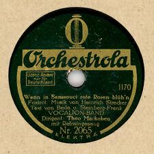 VOCALION-BAND (MACKEBEN)  & REFRAINGESANG Wenn in Sanssouci rote Rosen 20 cm M72