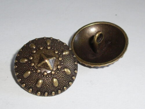 6 Stück Metallknöpfe Knopf Knöpfe Ösenknopf 23 mm altmessing NEU rostfrei #862.2