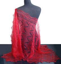 Chale Etole russe couleur Corail Cadeau original Femme Etole Corail Chale tricot