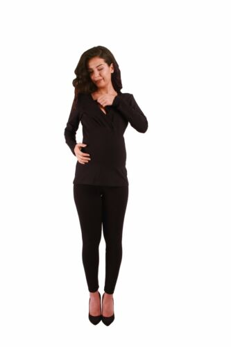Schwanger Stillshirt Umstandsmode Schwangerschaftsshirt Stilltop Stillbluse MMC