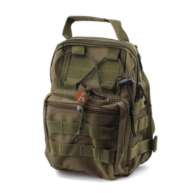 Army Green Tactical Sling Chest Assault Pack Messenger Shoulder Bag Backpack
