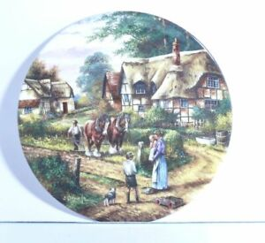 Collection-Plate-Wedgwood-Dorfleben-Ploughing-With-Certificate-Original-Package