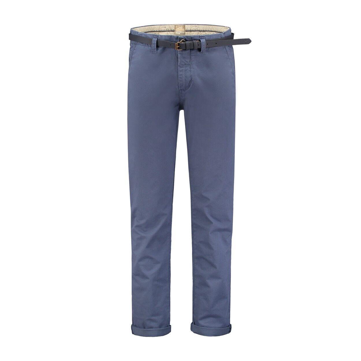 Dstrezzed Chino Pants Stretch Twill Royal Blau