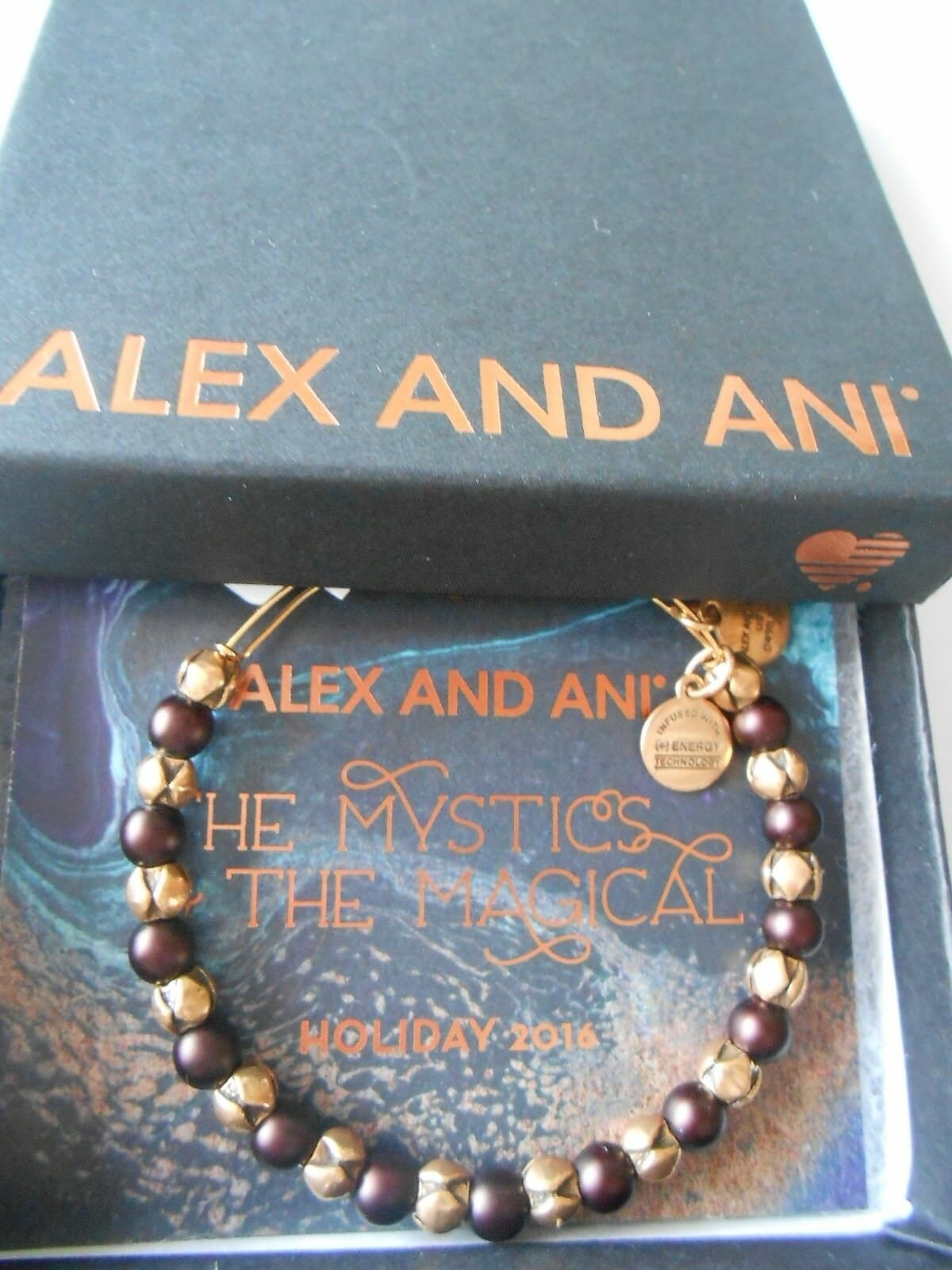 Alex e Ani Swarovski Swarovski Swarovski Perline Snowbell Bracciale Mulberry Rafaelian oro Nwtbc 31cecf