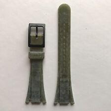 Vintage Tissot twotimer correa de goma de silicona verde oliva Corto Tipo