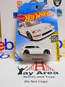 Hot Wheels Speed Graphics 1990 Honda Civic EF White Diecast Scale 1:64