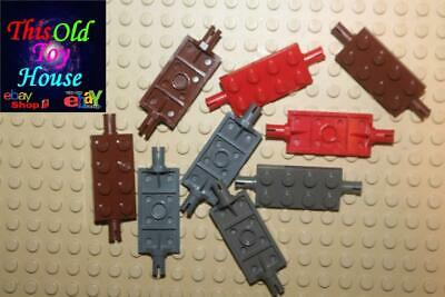 30157 LEGO 10x Plate 2x4 with Pins in Dark Grey Vehicle Part no