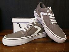 37ad19bc2da8 Airwalk Grey White Woman s Rieder Pro Sneaker 7 Regular-Brand New