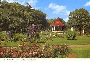 The-Public-Gardens-Halifax-NS-Nova-Scotia-Gazebo-Postcard-D9