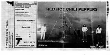 RED HOT CHILI PEPPERS - Ticket concert STADIUM ARCADIUM WORLD TOUR 2006 2007