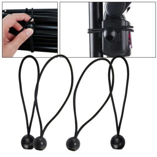 8x Flag Pole Clip Attach Windsocks Flags To Poles Ball Bungee Cord Ties Rope UK