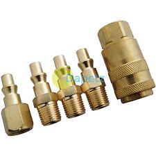 5pc Brass Air Quick Release Coupler NPT Fittings Air Line End Connector 1/4""