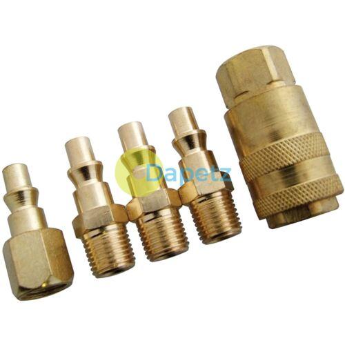 "1//4/"" Euro Coupler Connector Quick Release Air Hose Line End For Compressor 5Pc"