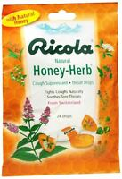 Ricola Throat Drops Natural Honey Herb 24 Each (pack Of 5) on sale