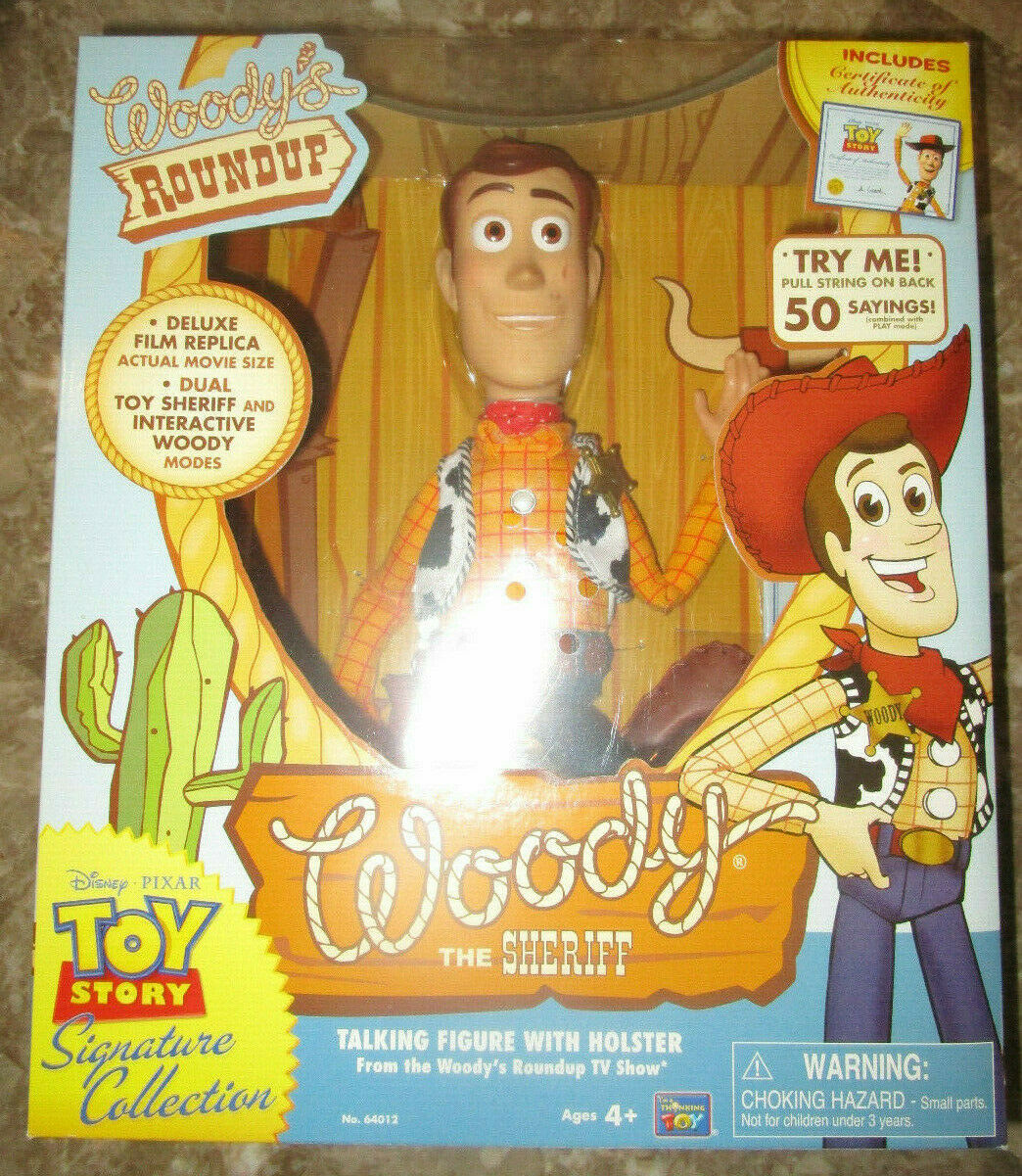 TOY STORY SIGNATURE COLLECTION WOODY WOODY WOODY THE SHERIF TALKING FIGURE WOODYS ROUNDUP 0b9