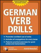 German Verb Drills, Fourth Edition (Drills Series) - New - Henschel, Astrid - Pa