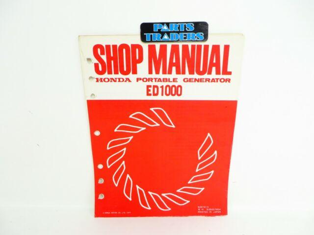Oem Genuine Honda Shop Service Repair Manual Ed1000