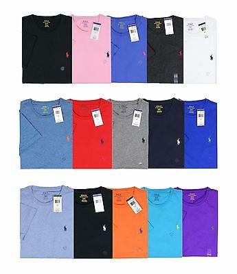New Polo Ralph Lauren Men Crew Neck T-Shirt Standard Fit Short Sleeve Size Pony