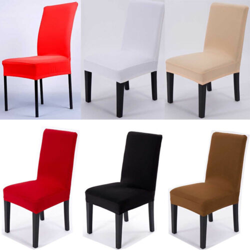 2//4//6Pcs Stretch Spandex Dining Room Chair Seat Covers Slipcovers Party Decor