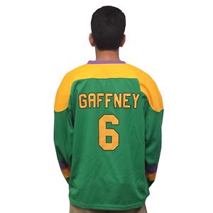 Copieux Julie The Cat Gaffney #6 Mighty Canards Film Hockey Jersey Gardien De But Années En Quantité LimitéE