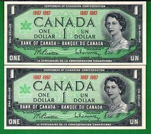 Canada-1967-Bank-of-Canada-2X-1-Dollar-P84a-034-COMMEMORATIVE-034-XF-aUNC