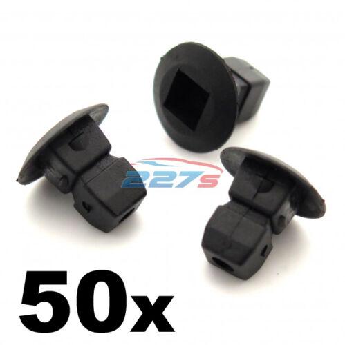 50x Plastic Grommets Trim Lock nuts Shields etc Expanding nuts- Audi Bumper