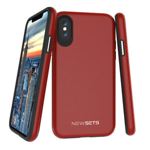 360-Shockproof-Case-For-iPhone-XS-Thin-Slim-Hard-Cover-Temper-Glass-Protector