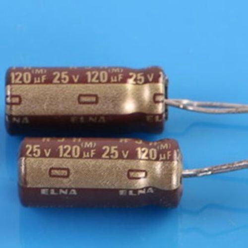 50PCS 25V 120uF 25Volt 120MFD Electrolytic Capacitor 6×15