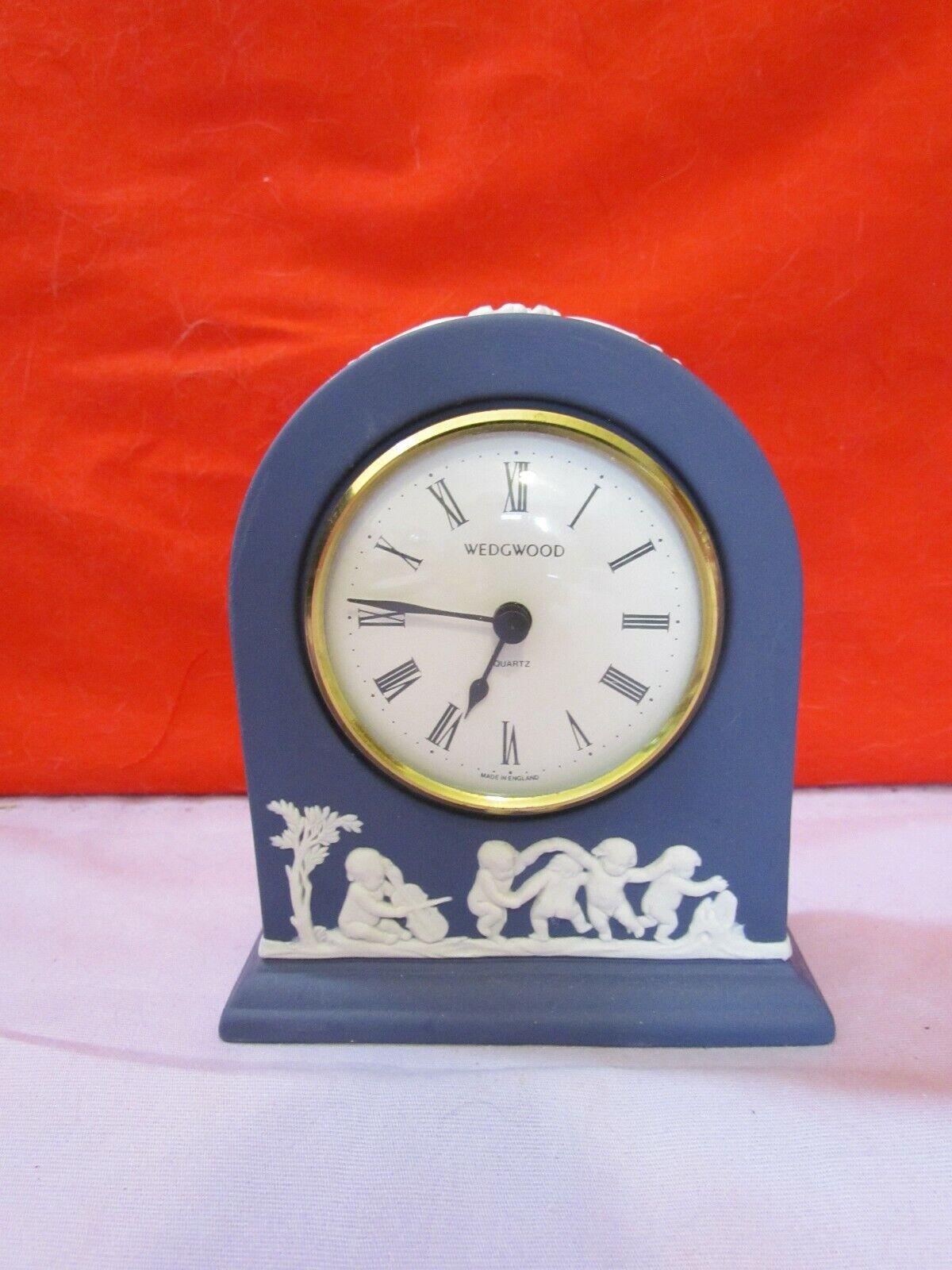 Image 1 - Wedgwood Blue Jasperware Clock Quartz England