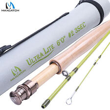 2WT Fly Rod 6FT Medium-Fast Fly Fishing Rod (Graphite IM10) & Cordura Rod Case