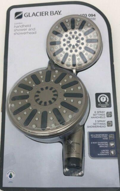Glacier Bay 8474100gw 5-Spray Wall Bar Shower Kit in Brushed Nickel