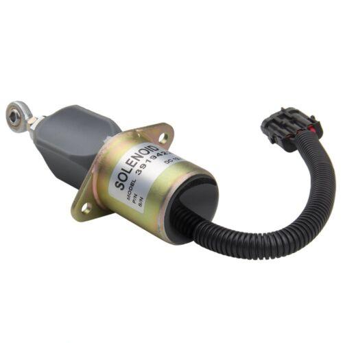 New 12V Fuel Shut Off Solenoid For Ford Cummins Diesel 2-1//2 bolt spacing 8.3L